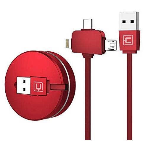CAFELE 3in1 充電ケーブル USB Type-Cケーブル 高...