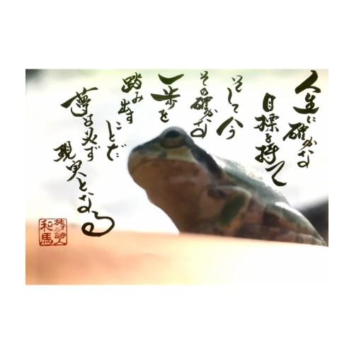 特別価格!旅する詩人和馬の直筆フォト(A4サイズ...