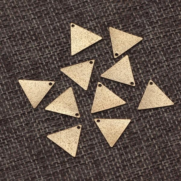 銅製プレートパーツ 三角形 マートゴールド 10...