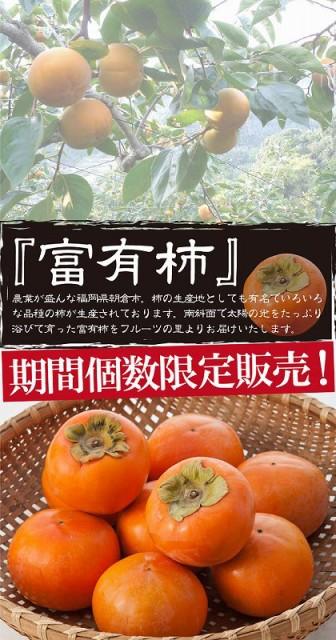 【送料無料】フルーツの里あさくらより 富有柿