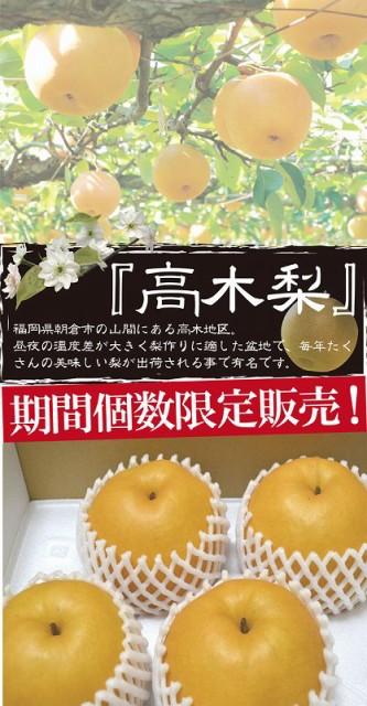 【送料無料】フルーツの里あさくらより 新高梨