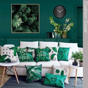 クッションカバー (45×45)(30×50) 45cm×45cm 30cm×50cmボタニカル グリーン/緑 インテリア雑貨cu-c0001