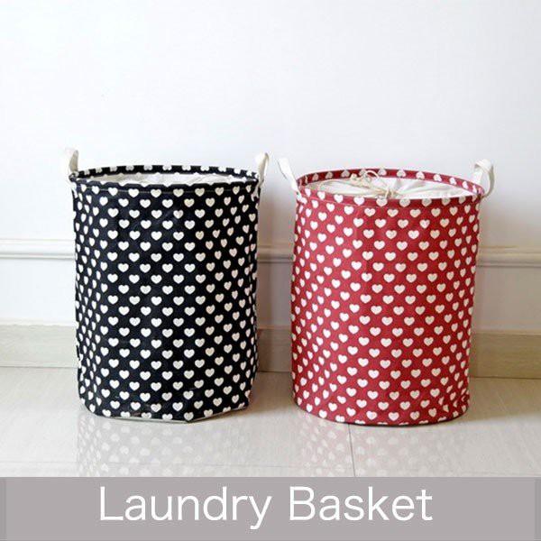 ランドリーバスケット ランドリーバッグ 収納 バスケット ハート おもちゃ収納ボックス/防水ごみ箱 rbox-0011