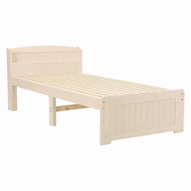 ベッド(ホワイトウォッシュ) MB-5903S-WS