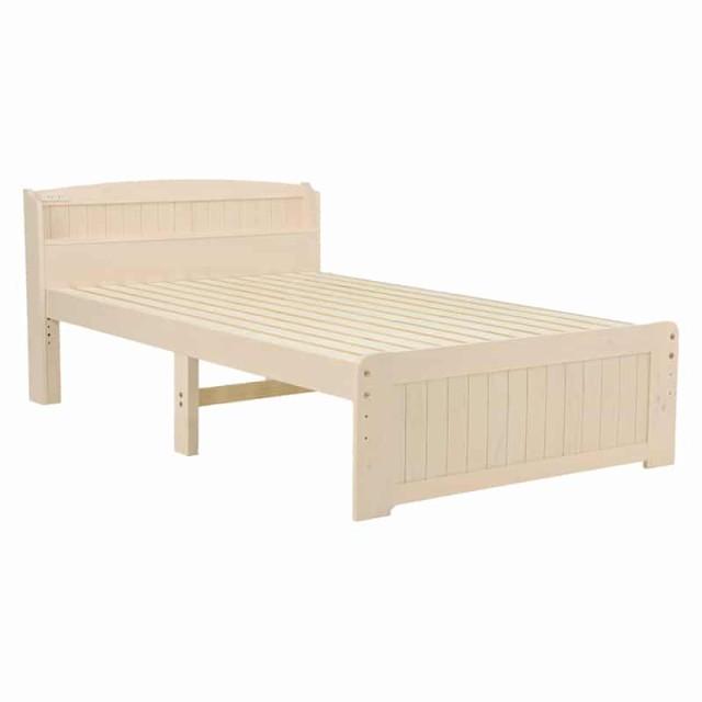 ベッド(ホワイトウォッシュ) MB-5903SD-WS