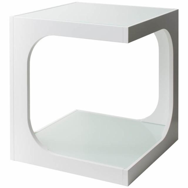 サイドテーブル ARCA(アルカ) ホワイト ST-40...