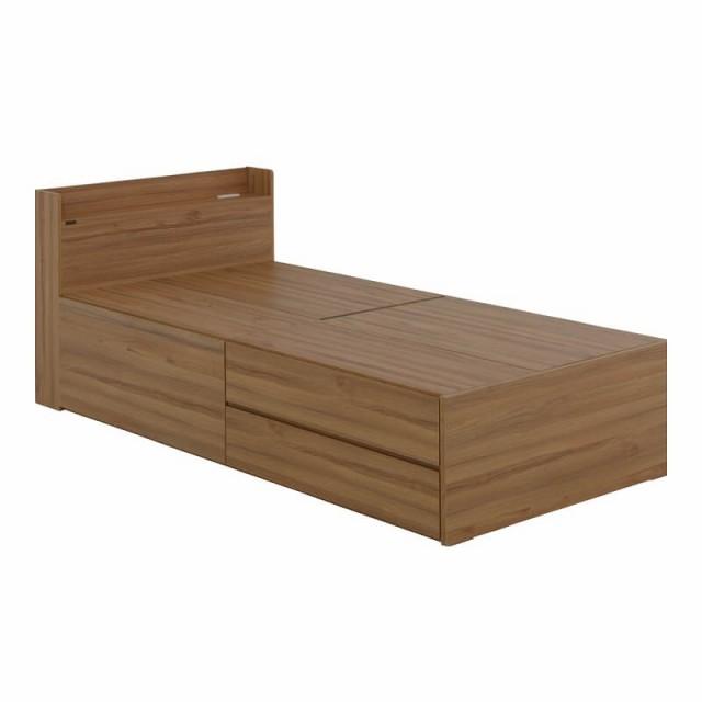 VAJI(ヴァジー) 収納付きベッド(収納2分割/...