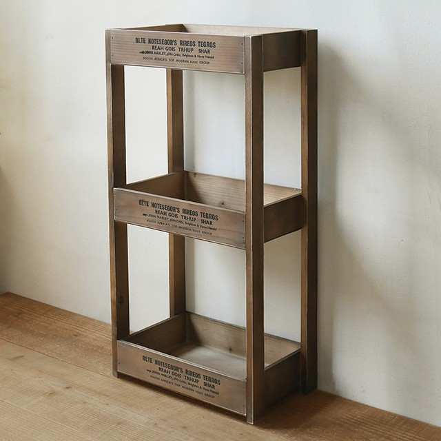 木製 3段ラック 収納ストッカー キッチン/リビン...