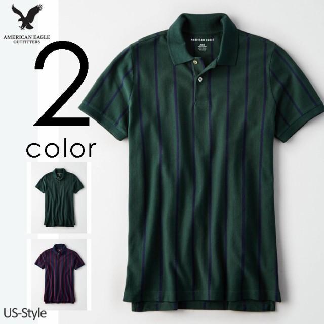 アメリカンイーグル メンズ ポロシャツ AE Stripe...