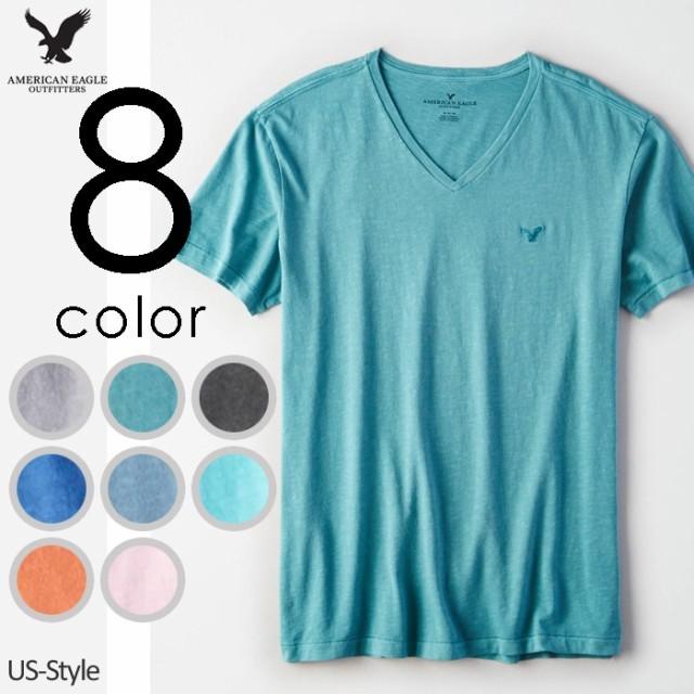 アメリカンイーグル メンズ Tシャツ AE Slub V-Ne...
