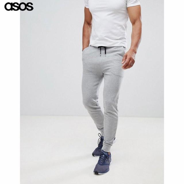エイソス メンズ パンツ グレーマール ASOS Skinn...