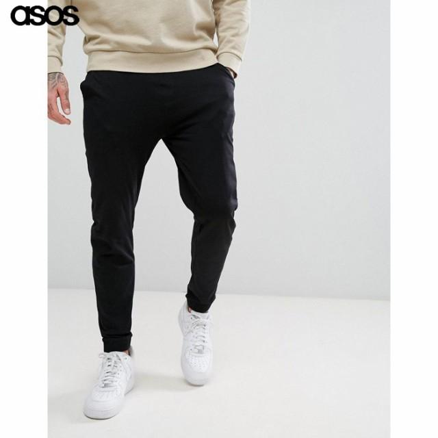 エイソス メンズ パンツ ブラック ASOS Skinny Jo...