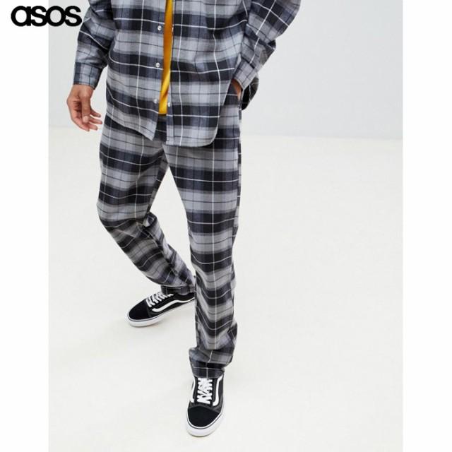 エイソス メンズ パンツ ブラック ASOS x Unknown...