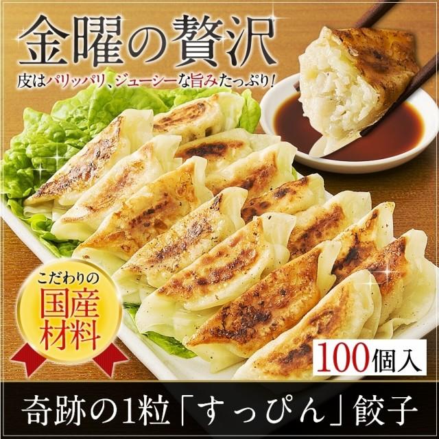 人気餃子 送料無料 すっぴん餃子100個 お取り寄せ...
