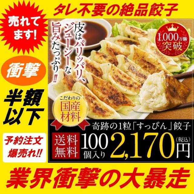【半額以下チャンス】人気餃子 送料無料 すっぴん...