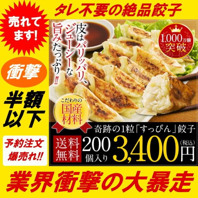【半額以下】すっぴん餃子 200個 冷凍 送料無料 ...