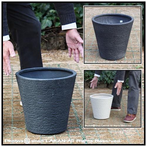 ソリッドφ31cm ポリストーン製すり鉢型植木鉢 / ...