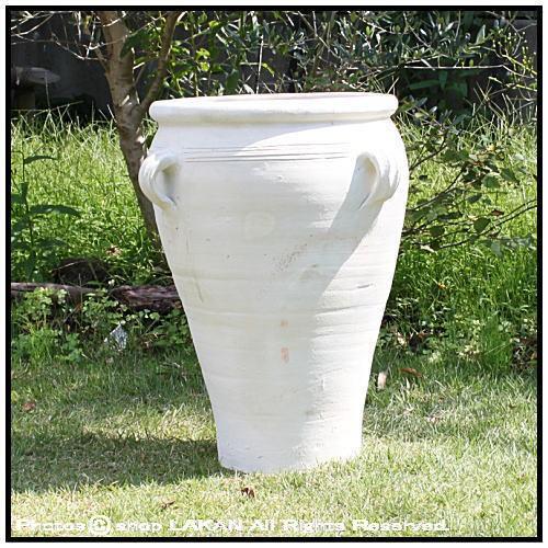 チュニスφ45cm 人気テラコッタ製 壺型鉢 / チュ...