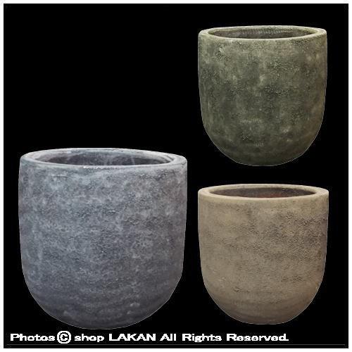 ボルカーノ-ソルトラウンドφ30cm 釉薬付陶器鉢 /...