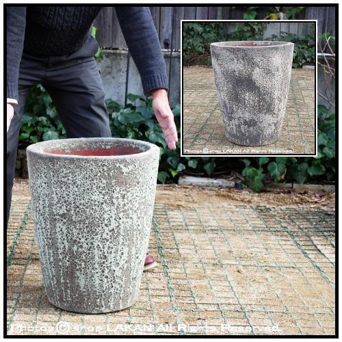 コニックφ40cm (ボルカーノS)釉薬付陶器製植木鉢...