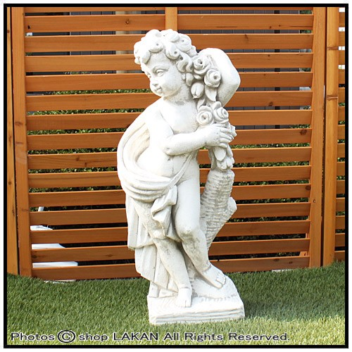 季節の子供/大(春)H70cm イタリア製庭園石像 人物...