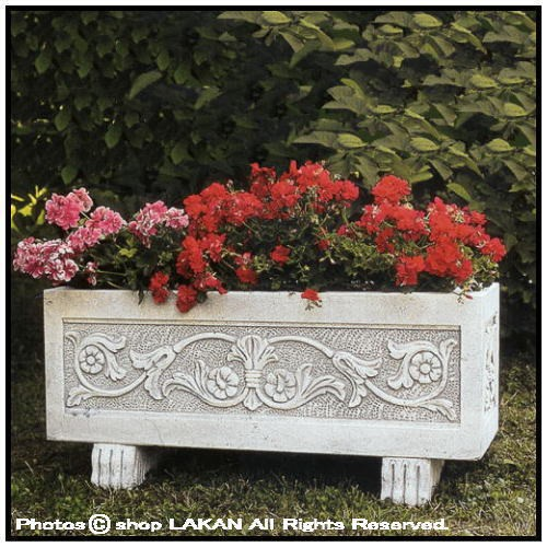 カラカッラプランターW100cm 横長型石造花鉢 / イ...
