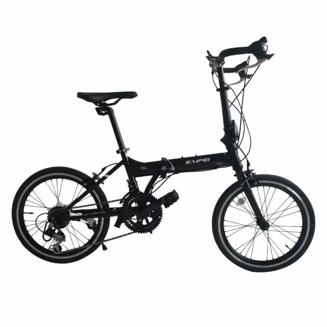 折りたたみ自転車 20インチ 軽量 14段変速 ライト...