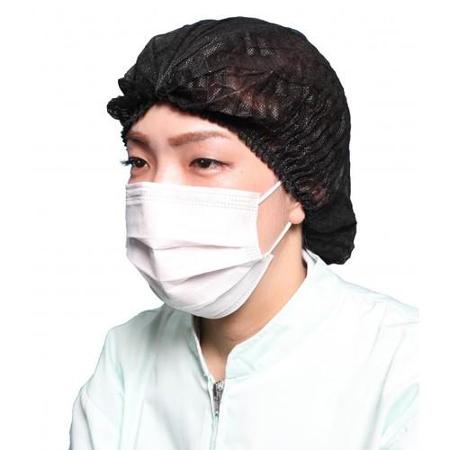 不織布使いきりヘアキャップ(黒) 2000枚【送料...