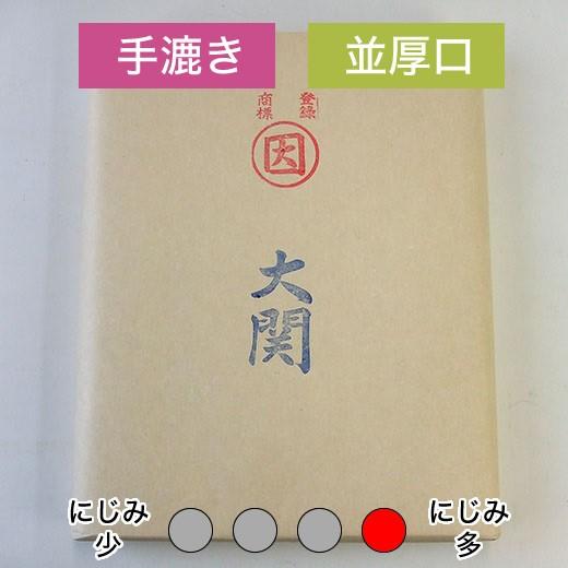 漢字用紙 清書用 手漉き半切 【大関】 100枚 ...