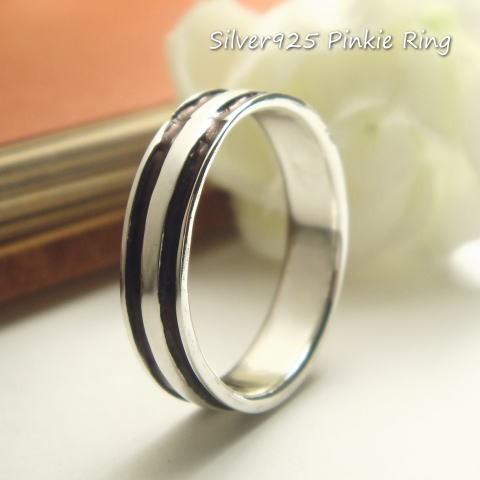 【シルバーリング】ピンキーリング 指輪 シンプル...
