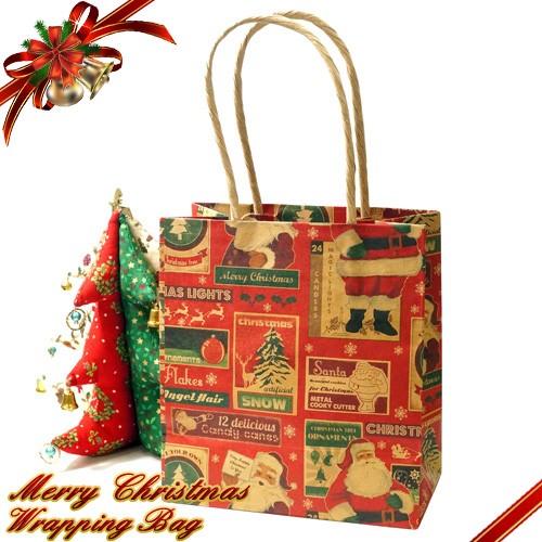 クリスマス限定クリスマス模様ギフト紙袋 【ギフ...