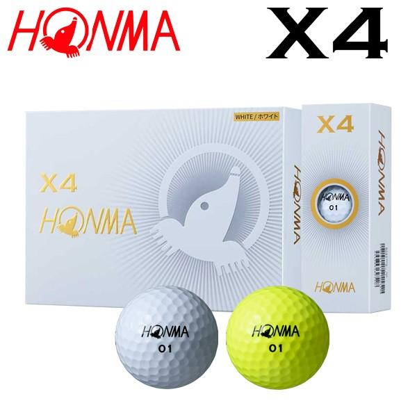 ホンマ ゴルフ HONMA X4 ゴルフボール 1ダース12p...