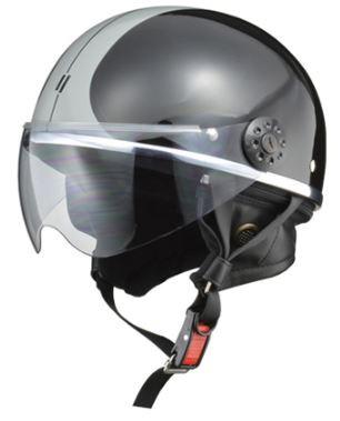 LEAD リード工業 O-ONE ハーフヘルメット BK/SV  ...