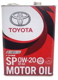 トヨタ エンジンオイル SP 0W-20 GF-6A 4L 缶 088...