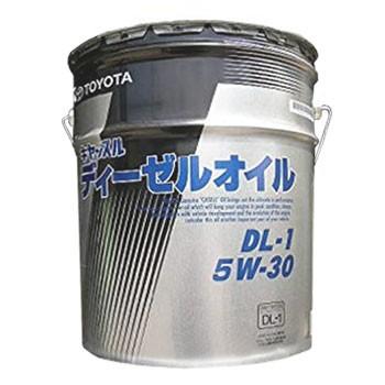 トヨタ ディーゼル エンジンオイル DL1 5W-30 20L...