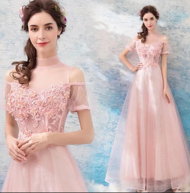ウェディングドレス ロングドレス カラードレス ...