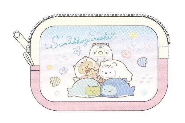 【すみっコぐらし】フリーポーチ【海ピンク】【す...