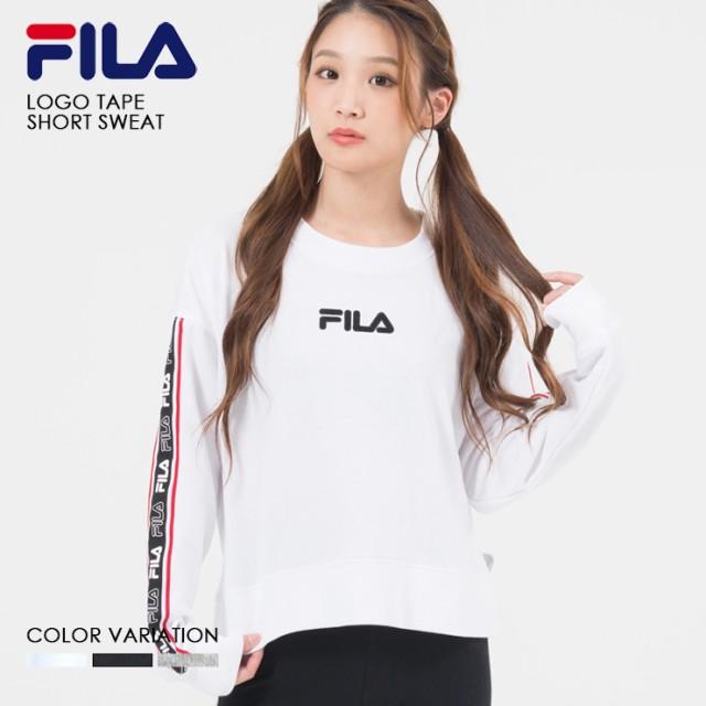 FILA フィラ ロゴ テープ ショート トレーナー レ...