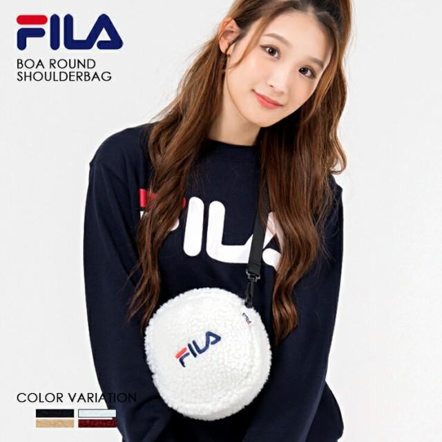 FILA【フィラ】ボアラウンドショルダーバッグ/4色...