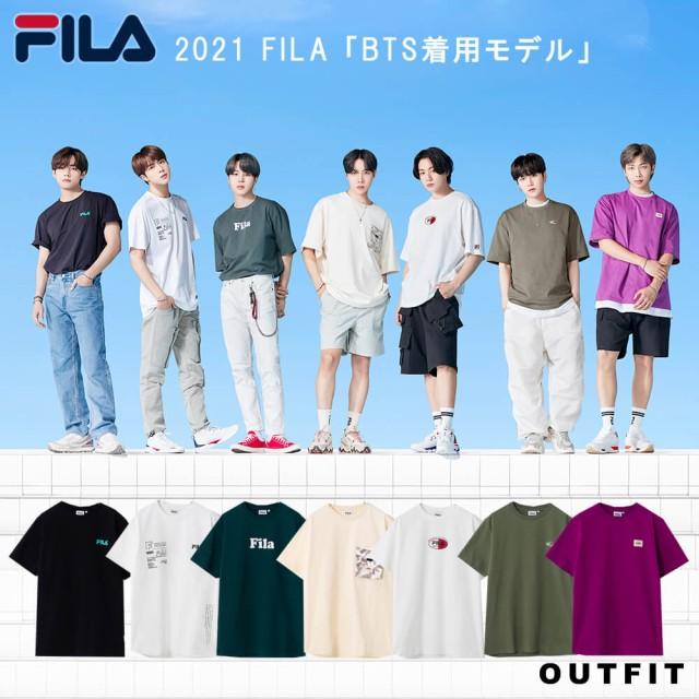BTS 防弾少年団 着用モデル Tシャツ FILA フィラ ...