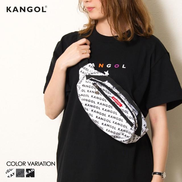 KANGOL総柄ボディバッグ カンゴール KANGOL ボデ...