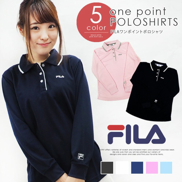 FILA フィラ ポロシャツ レディース 長袖 おしゃ...