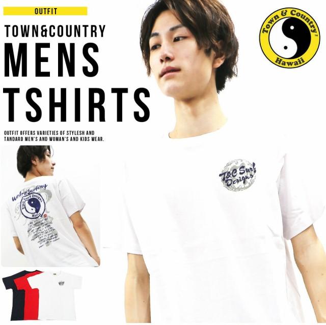 送料無料 タウン&カントリー Tシャツ メンズ 半袖...