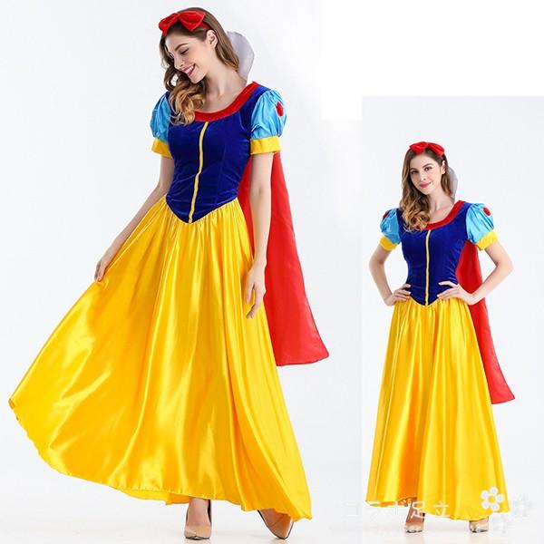 ハロウィン コスプレ衣装 白雪姫 ワンピース コス...
