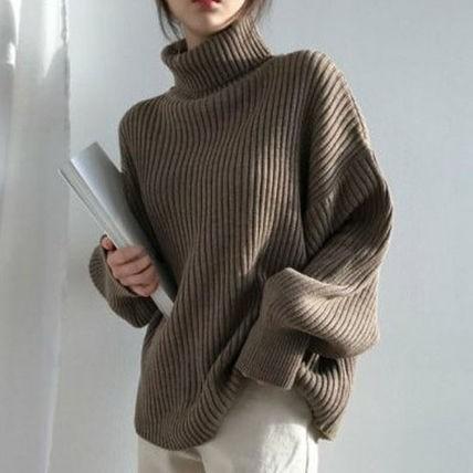 韓国ファッション ニット トップス セーター プル...