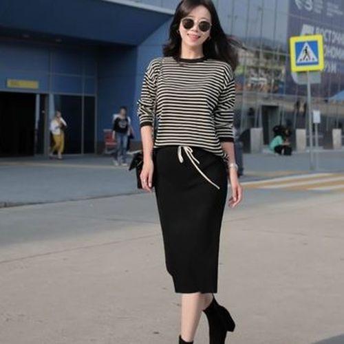 韓国ファッション セットアップ ニットセットアッ...