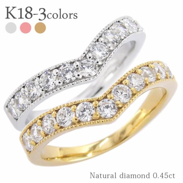 k18 ダイヤモンドリング 0.45ct 18金ゴールド ハ...