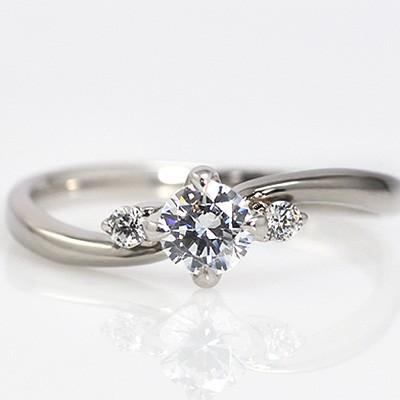 婚約指輪:エンゲージリング:プラチナ900(Hカラー...