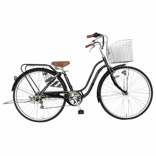 自転車 27インチ 6段変速ギア ママチャリ おしゃ...