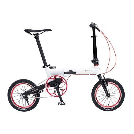 折りたたみ自転車 ルノー ウルトラライトセブン 7ネクスト LIGHT ULTRA next 14インチ ホワイト 軽量 コンパクト
